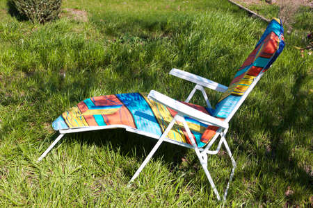 patio chair: deck chair to stay standing on green grass
