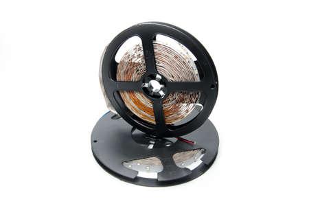 convolute: abstract led strip tape convolute on the plastic spool