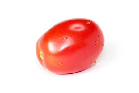 image of beautiful red ripe tomato as an element of food photo