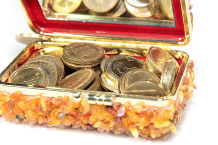heap of metal ruble lie in the box to save