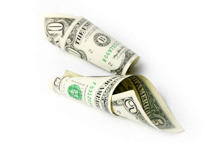 small pile of fine paper money dollars photo
