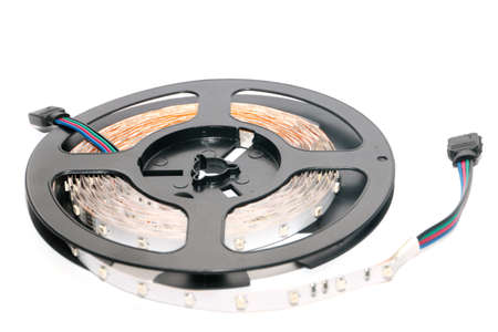 plastic reel with LED strips for lighting the room photo