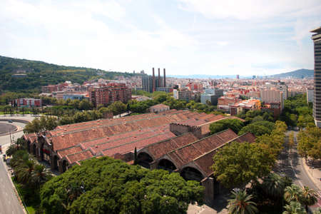 view of buildings and streets of Barcelona Spain
