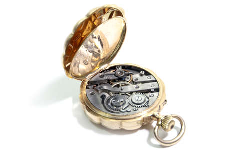 oclock: Image small antique clock in gold case