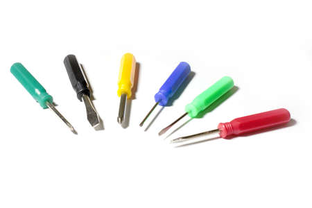a diverse set of screwdriver for different tasks photo