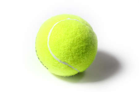 new ball: new ball for game on the tennis court