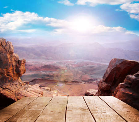 skyscape: Image highest mountain peaks and beautiful skyscape Stock Photo