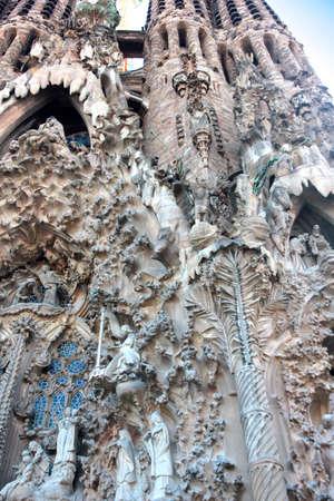View of the Sagrada Familia Barcelona Spain