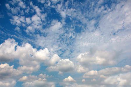 skyscape: Beautiful blue sunny sky as skyscape