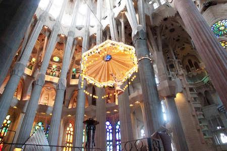 familia: View of the Sagrada Familia Barcelona Spain Editorial