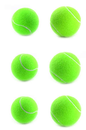individual color: tennis ball as a part of sports equipment