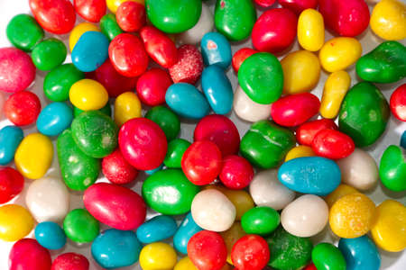 dragees: colorful round candy dragees as a sweet treat