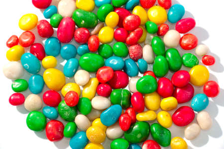 sweet treat: colorful round candy dragees as a sweet treat