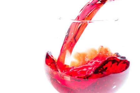 Beautiful drops and splashes of wine