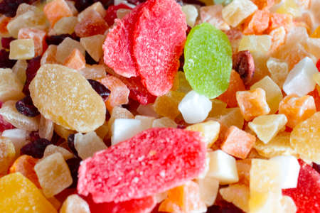 candied: image sweet candied dried tropical fruits