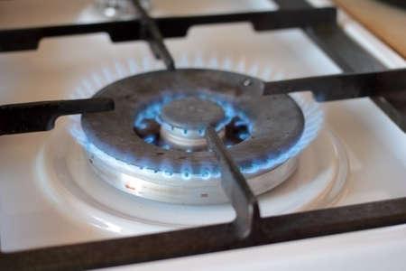 gas stove: bright flame burner gas kitchen stove