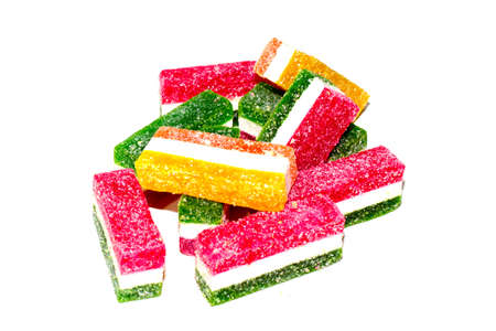 jellies: lovely sweet colorful jellies as a delicacy Stock Photo