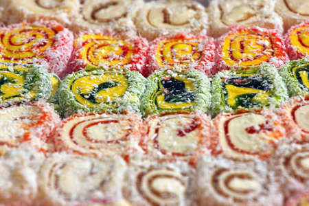 sweet dessert as a kind of nougat confectionery sweetness Stock Photo