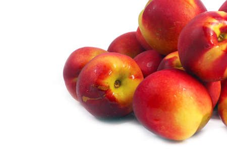 beautiful crop of ripe juicy fruit of a peach Stock Photo