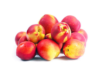 beautiful crop of ripe juicy fruit of a peach Stock Photo