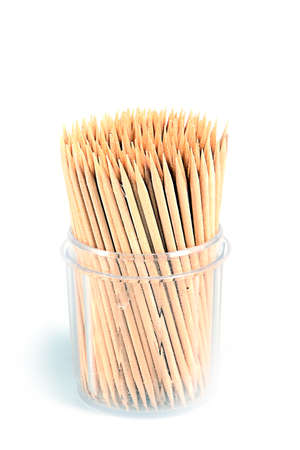 toothpick from the tree as an element of health and health Stock Photo