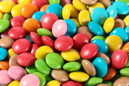 dragee: sweet candy colored dragee as a delicacy