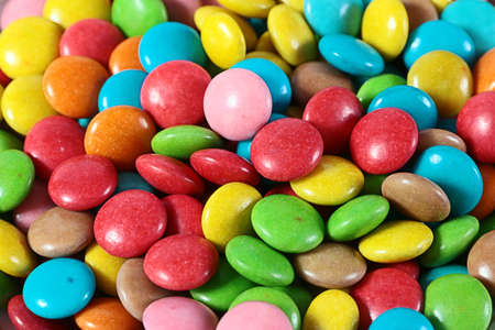 manjar: sweet candy colored dragee as a delicacy