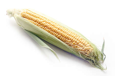 lovely cooked fresh corn prepared for eating