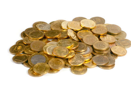 Russian metal golden coins as part of the trade and the countrys banking system