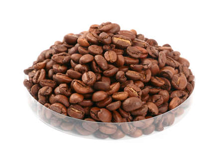lovely fresh roasted coffee beans for making fragrant drink