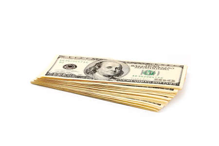 A lot of paper dollars as an element of the trade and economic system Stock Photo