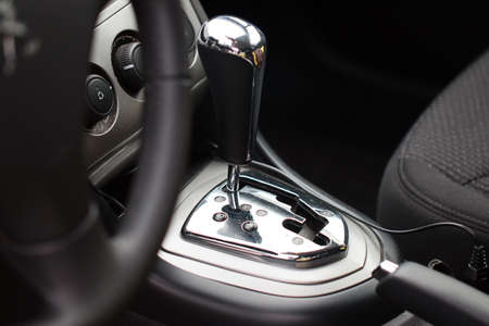 palanca: The lever of a choice of an automatic transmission of the modern car