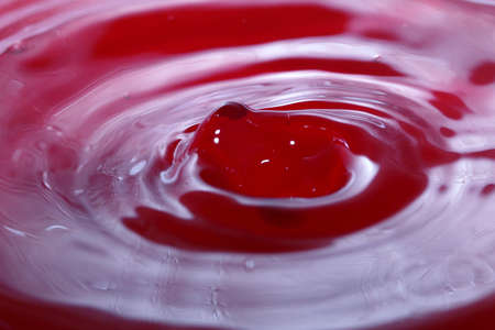 Patterns on the surface of the liquid Stock Photo