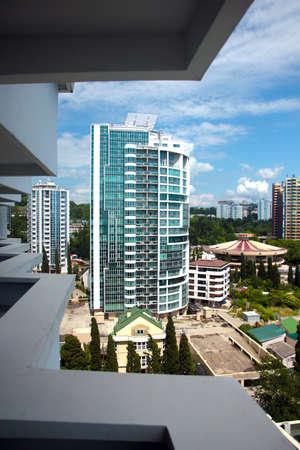 lia: Quarters of residential buildings of the city of Sochi Krasnodar region Russia Editorial