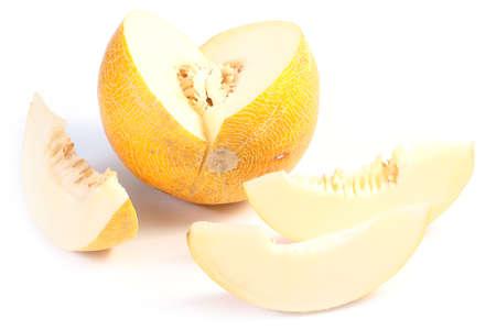 Sweet ripe beautiful melon as an element of garden harvest