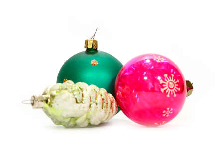 beautiful glass ornaments for the New Year tree on holiday