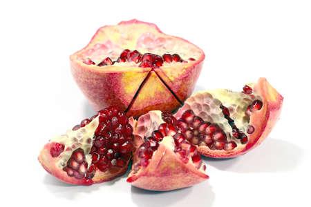 lovely ripe fresh ripened fruit of pomegranate 스톡 콘텐츠