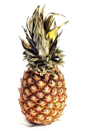 the harvest beautiful ripe tropical fruit pineapple Stock Photo