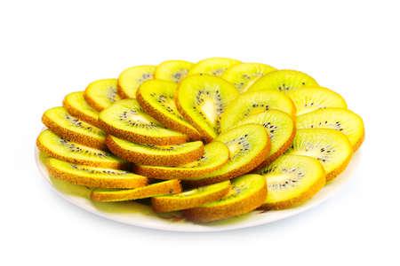 slices of a beautiful fresh tropical fruit kiwi