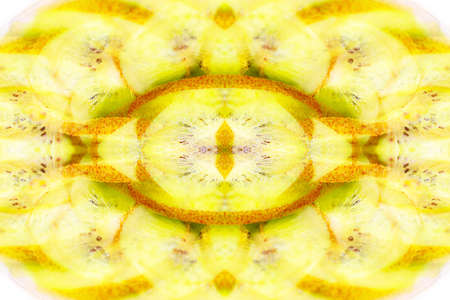abstract symmetrical image obtained by reflection in mirrors, kaleidoscope Imagens - 96318632