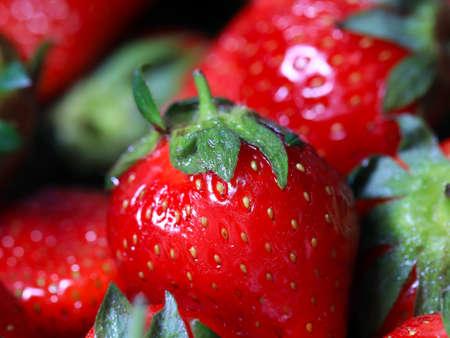lovely ripe strawberry garden berries for breakfast food