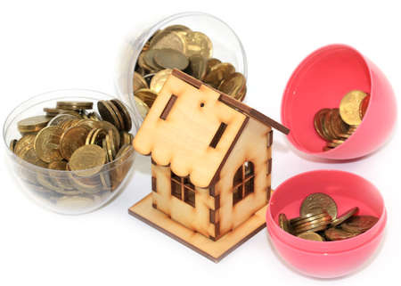 coins accumulation on the home