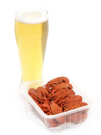 light beer and boiled crawfish