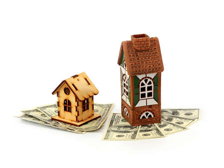 houses and dollars Banque d'images