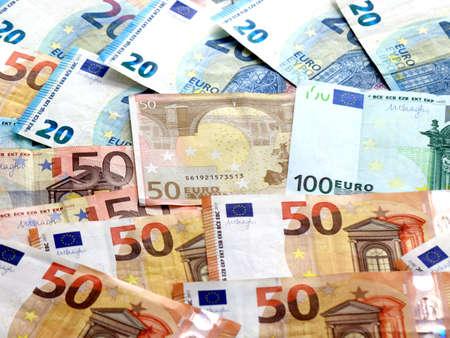 tas de monnaie européenne euro