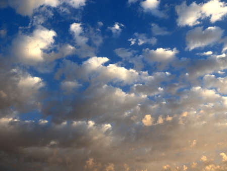 cloudy sky on the horizon