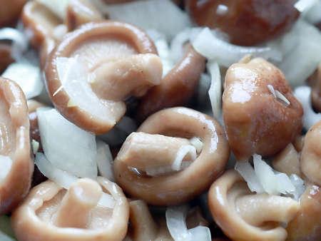 fresh pickled mushrooms