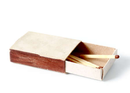 paper box with matches 免版税图像