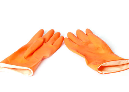 a pair of rubber gloves