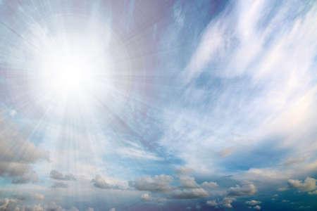 summer sky with clouds 版權商用圖片